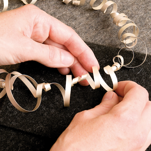 jewellery being processed